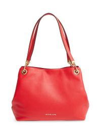 MICHAEL Michael Kors - Brown Large Raven Leather Tote - Lyst