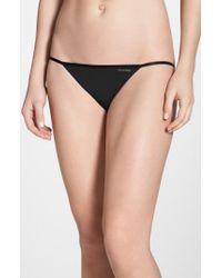 Calvin Klein - Black Sleek String Bikini - Lyst