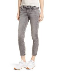 PAIGE - Gray Transcend - Verdugo Crop Skinny Jeans - Lyst