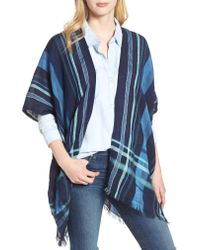 Echo - Blue Poolside Plaid Open Cardigan - Lyst