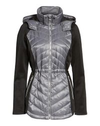 Guess - Gray Insulated Anorak Jacket - Lyst