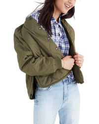 Madewell - Green Quilted Military Jacket - Lyst