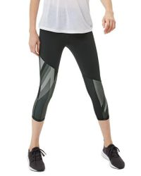 Sweaty Betty - Black Power Union Jack Crop Leggings - Lyst