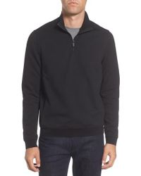 Vince Camuto - Black Slim Fit Mixed Media Track Jacket for Men - Lyst