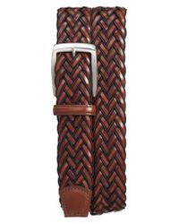 Torino Leather Company - Brown Braided Belt for Men - Lyst