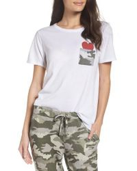 Chaser - White Pocket Of Love Lounge Tee - Lyst