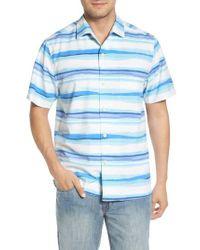 Tommy Bahama - Blue Hazy Horizons Silk Blend Camp Shirt for Men - Lyst