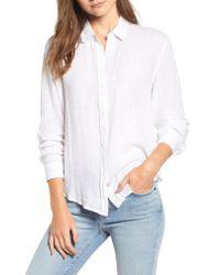 Rails - White Sydney Stripe Shirt - Lyst