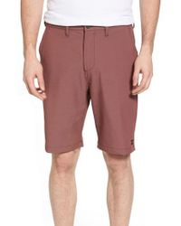 Billabong - Red Crossfire X Submersible Twill Shorts for Men - Lyst