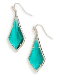 Kendra Scott | Blue Olivia Drop Earrings | Lyst