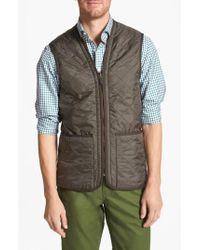Barbour | Green 'polarquilt' Relaxed Fit Zip-in Liner Vest for Men | Lyst