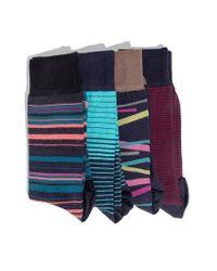 Hook + Albert - 4-pack Socks, Blue for Men - Lyst