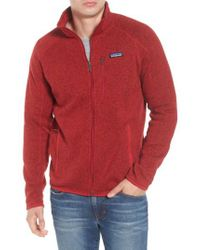 Patagonia | Red Better Sweater Zip Front Jacket for Men | Lyst