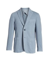 Bugatchi - Blue Unstructured Cotton & Linen Blazer for Men - Lyst