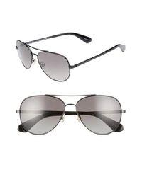 e3cc2bd921 Lyst - Kate Spade Avaline 2 s 58mm Polarized Aviator Sunglasses - in ...