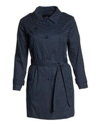 London Fog - White Polka Dot Single Breasted Trench Coat - Lyst