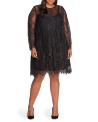 REBEL WILSON X ANGELS - Black Lace Overlay Dress - Lyst