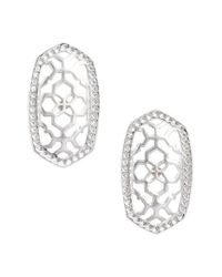 Kendra Scott - Metallic Ellie Oval Stud Earrings - Lyst