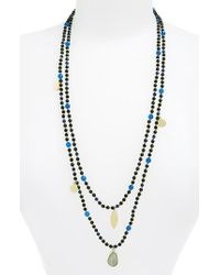 Panacea - Multicolor Layer Bead Necklace - Lyst