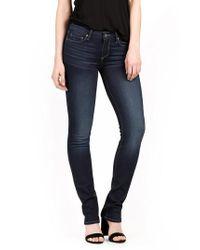 PAIGE - Blue Skyline Skinny Jeans - Lyst