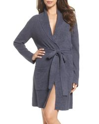 Barefoot Dreams - Pink Barefoot Dreams Cozychic Lite Short Robe - Lyst