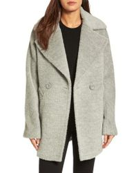 Trina Turk - Gray Nancy Double Breasted Coat - Lyst