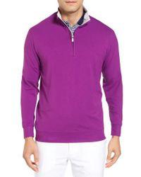 Bobby Jones   Purple Pto Liquid Stretch Quarter Zip Pullover for Men   Lyst