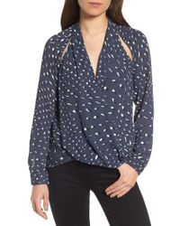 Trouvé | Blue Cutout Surplice Top | Lyst