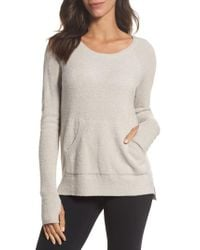 Barefoot Dreams   Metallic Barefoot Dreams Cozychic Lite Pullover   Lyst