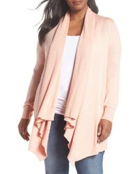 Sejour - Pink Waterfall Cardigan - Lyst