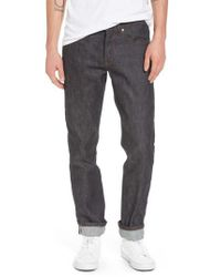 Naked & Famous - Blue Weird Guy Slim Fit Jeans for Men - Lyst
