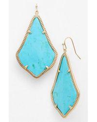 Kendra Scott - Blue 'alexandra' Large Drop Earrings - Lyst