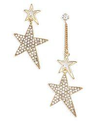 Cara - Metallic Crystal Star Statement Earrings - Lyst