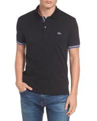 Lacoste - Black Slim Fit Pique Polo for Men - Lyst