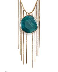 Serefina - Green Agate Pendant Necklace - Lyst