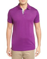 Bobby Jones   Purple Solid Pique Golf Polo for Men   Lyst