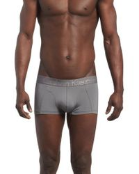 CALVIN KLEIN 205W39NYC - Gray Low Rise Trunks for Men - Lyst
