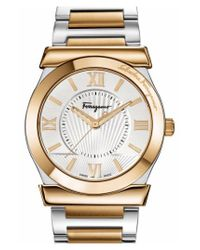 Ferragamo - Metallic 'vega' Bracelet Watch for Men - Lyst