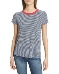 Rag & Bone - Blue Stripe Tee - Lyst