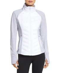 Zella - White Zelfusion Reflective Quilted Jacket - Lyst