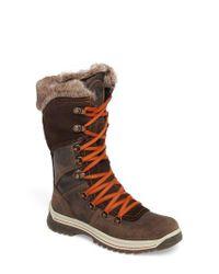 Santana Canada - Brown 'Morella' Water Resistant Faux-Fur Boot - Lyst