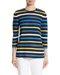 St. John - Blue Ombre Stripe Sweater - Lyst