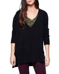 Sanctuary | Black Santuary Delancey V-neck Sweater | Lyst