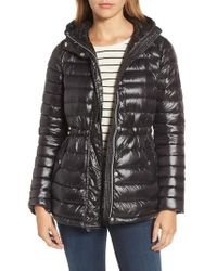 Vince Camuto   Black Hooded Down Jacket   Lyst