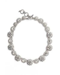 Marchesa - White Crystal Collar Necklace - Lyst