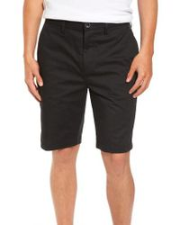 Billabong - Black Carter Stretch Twill Shorts for Men - Lyst