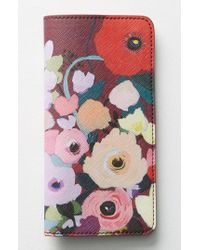 Anthropologie - Multicolor Picturesque Florals Travel Wallet - Burgundy - Lyst
