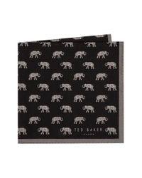 Ted Baker - Gray Elephant Pocket Square for Men - Lyst