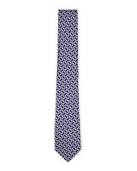 Topman - Blue Geo Print Woven Tie for Men - Lyst