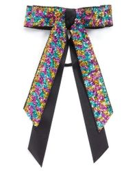 Cara - Blue Sequin Bow Ponytail Holder - Lyst